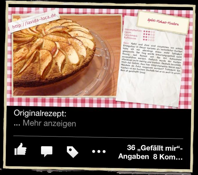 Apfel-Kokos-Kuchen